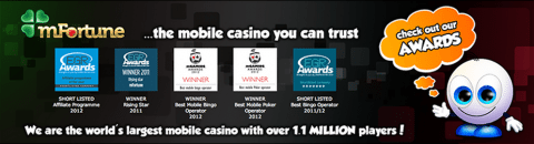 mFortune - Gradam Winning Mobile Casino
