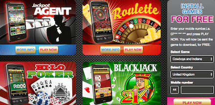PocketWin Mobile Casino Jeux