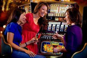 women at slots