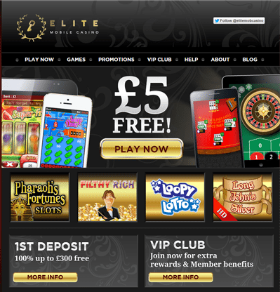 Elite Phone Deposit Mobile Casino