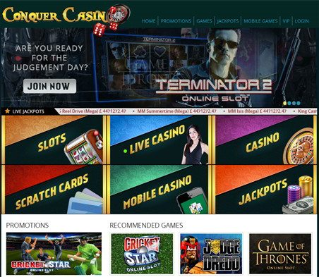 Win Cash Rewards At Conquer Casino