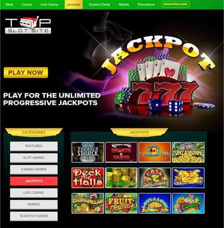 Spielen für die unbegrenzte Progressive Jackpot Slots