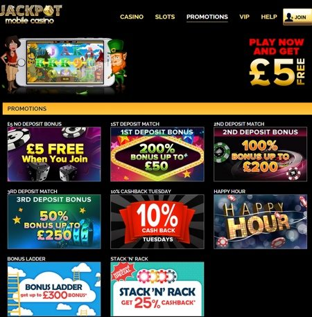 Find Many Promotions In Jackpot Mobile Casino