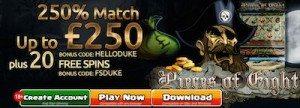 Casino Dukes Deposit Match Bonus