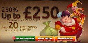 Casino Dukes Online Slots Casino no Deposit Bonus Games