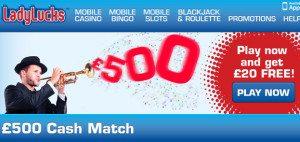 Ladylucks Online Payment Deposit Bonus