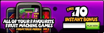 Free £10 Mobile Casino Bonus